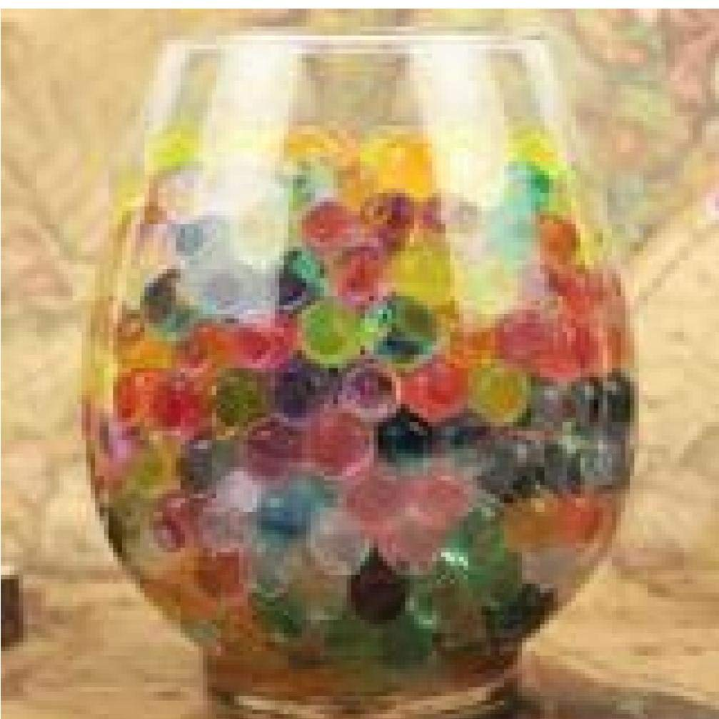 Zonster 1000 pcs Purple Water Plant Flower Jelly Crystal Soil Mud Water Pearls Vase Soil Gel Beads Balls Bead Decoration