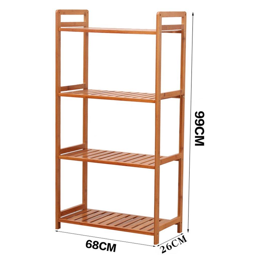 GYP ソリッドウッドラック、創造的なシンプルなリビングルームキッチンベッドルームフロアシェルフパーティションストレージ装飾 ( 色 : 4 floors , サイズ さいず : 68cm 68 cm )   B0791B5K97