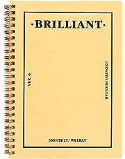 PAPERIAN Brilliant Weekly Scheduler–Planificador semanal con espiral sin fecha , color Honey Yellow
