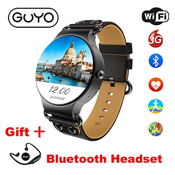 Amazon.com: 3G Smart Watch Android 5.1 OS with WiFi GPS SIM ...