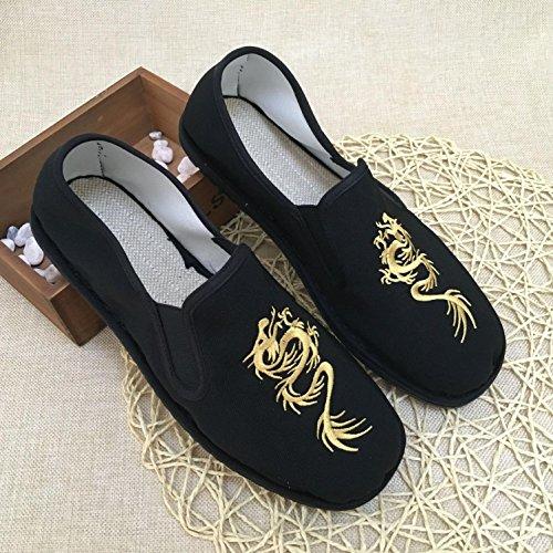 LvYuan Zapatos tradicionales chinos unisex del paño / retro ocasional respiran los zapatos bordados / los zapatos de Kung Fu / los artes marciales / deslizan-en los zapatos 1#