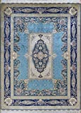 Camel Carpet Luxury Blue Silk Hand Knotted Persian Oriental Large Kitchen Rugs 9'x12′ Review