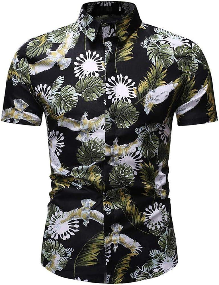 Cocoty-store 2019 Camiseta Hombre, Hombres Mujeres Camisetas Casuales de impresión de Tallas Grandes Verano Camisas Hombre Manga Corta de la Playa Hawaiana, M, Verde: Amazon.es: Ropa y accesorios