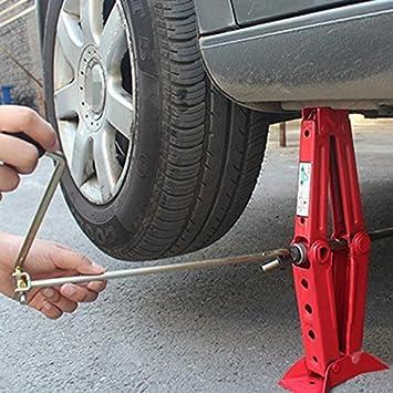 Homdox Gato de Tijera de coches, Gatos Neumaticos para Levantar Coches,de Color Rojo (Hasta 1T): Amazon.es: Coche y moto