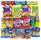 Cookies Chips & Candies Variety Pack Bundle Assortment Includes Funyuns, Moon Pies, Pickle In-a Pouch, Potato Skins, Cracker Jacks & More. Box of 50 Items