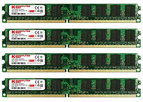 240 Pin Dimm Ddr2 Memory - KOMPUTERBAY 8GB (4X 2GB) DDR2 800MHz PC2-6300 PC2-6400 (240 PIN) DIMM Desktop Memory with Samsung Semiconductors