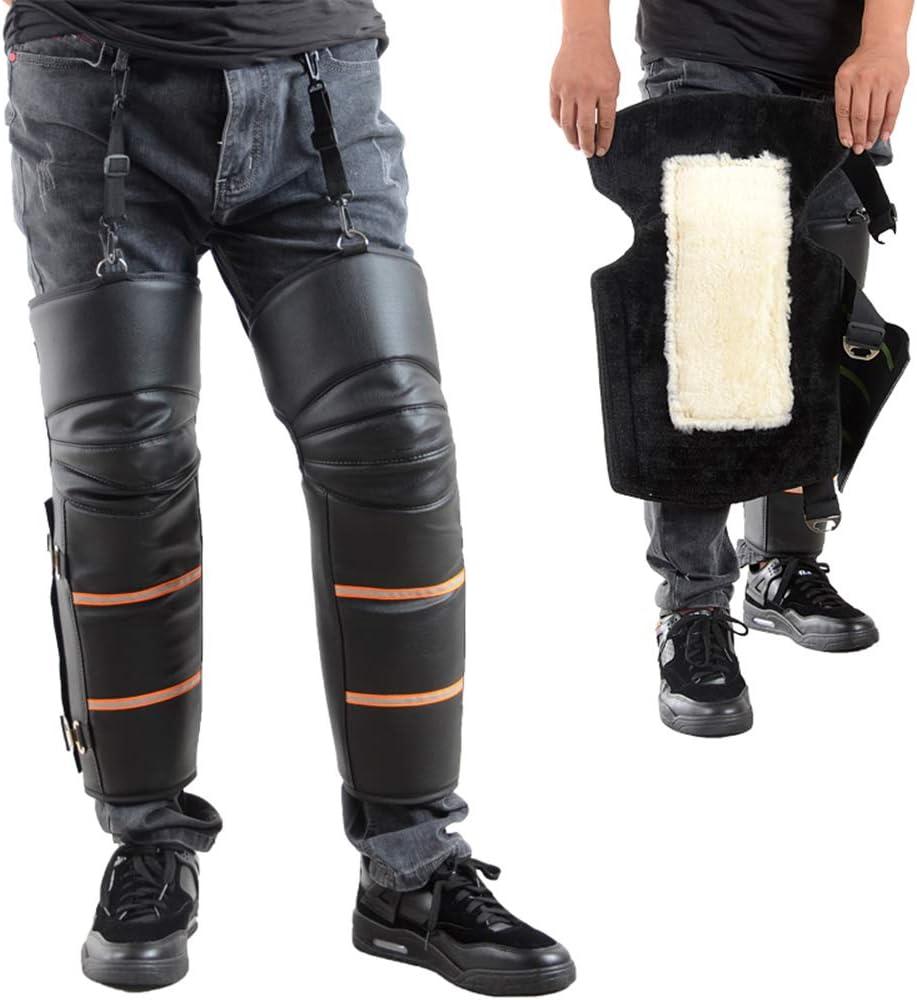 Medias Chaquetas Cubiertas De Polainas Correa Ajustable A Prueba De Viento cineman Protector De Rodilla para Motocicleta Tela Oxford Protector De Calentador De Pierna