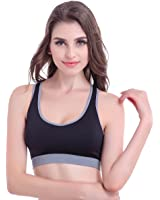 B.BANG Women Comfort Wire-free Seamless Yoga Sport Bra