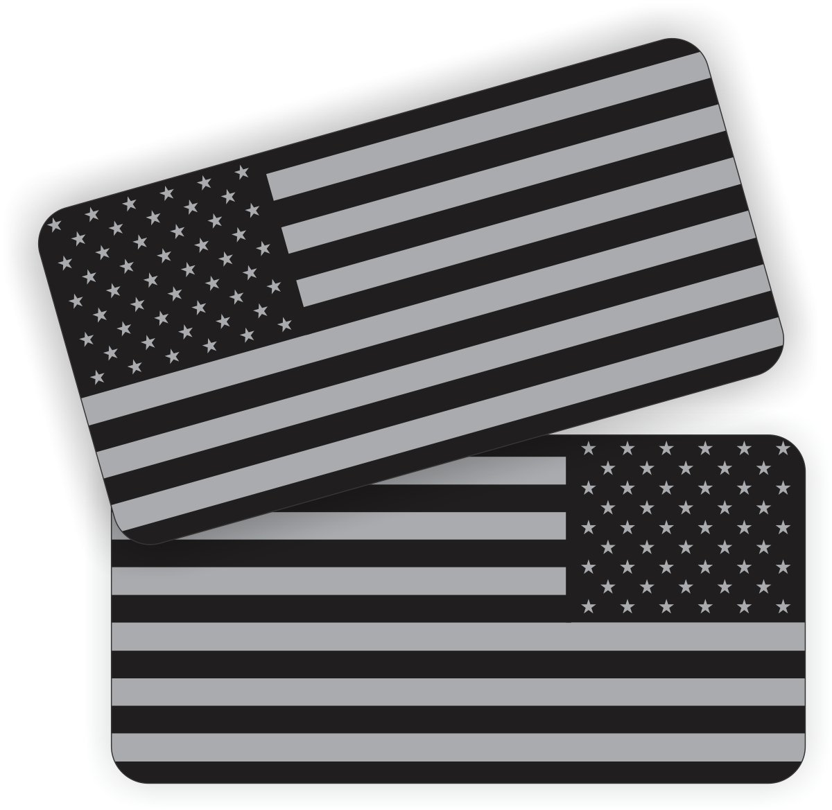 Stealth American Flag Helmet / Hard Hat Sticker / Decal / Label Tool Lunch Box Patriotic Old Glory Black Ops