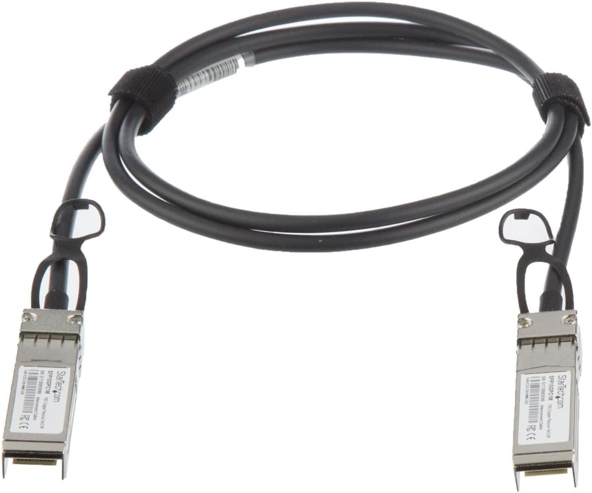 - 10 GbE 1 m StarTech.com MSA Compliant SFP+ Direct-Attach Twinax Cable 3.3 ft