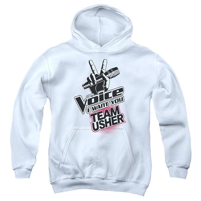 The Voice - Equipo de Jóvenes de Usher Sudadera con capucha, X-Large, White: Amazon.es: Ropa y accesorios