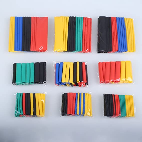 Sedeta Heat Shrink Tubing high ratio 3:1 328 pieces with different size Heat Shrink Wrap Wire Kit Set Assortment