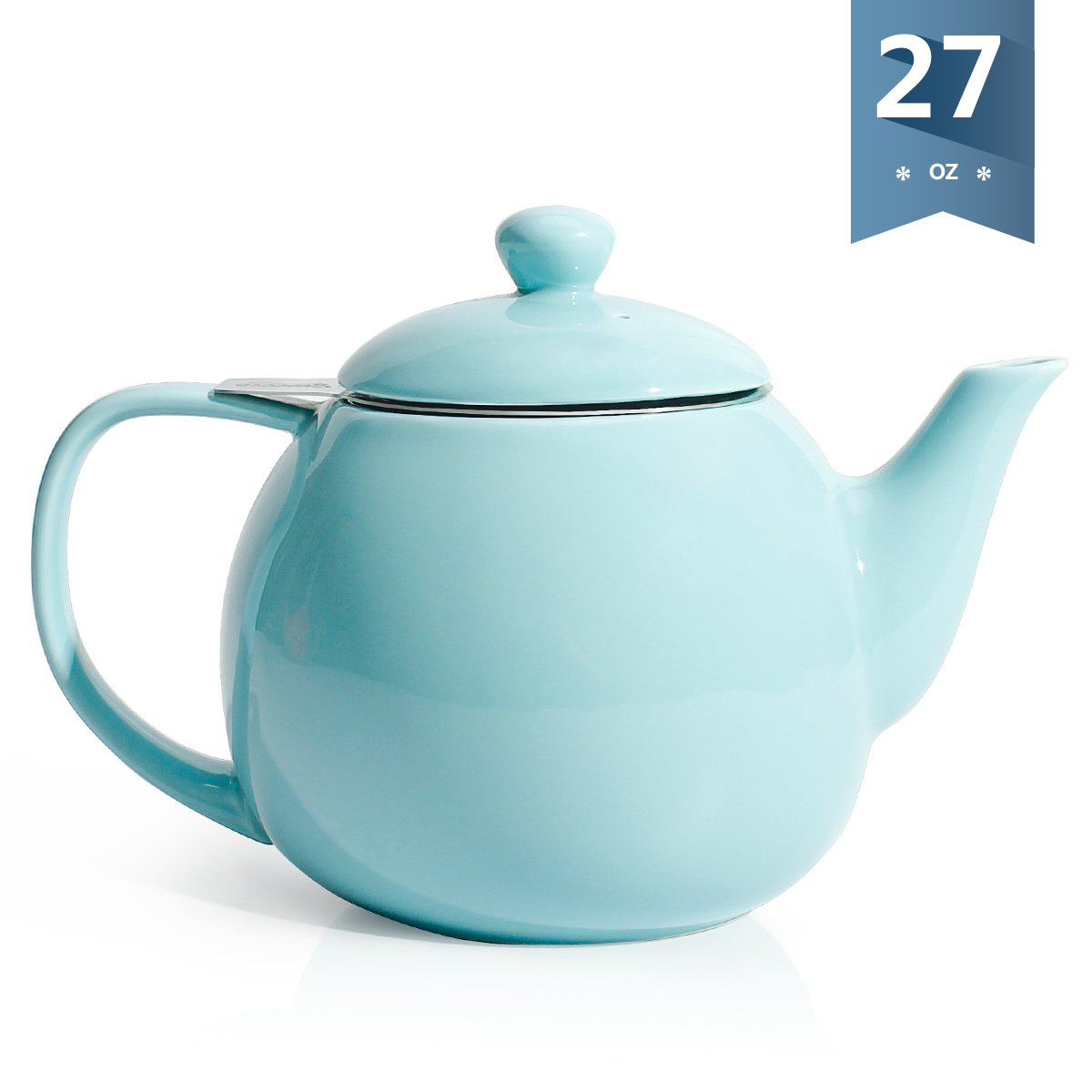 Sweese 2309 Teapot 27 ounce Blooming /& Loose Leaf Teapot Porcelain Tea Pot with Stainless Steel Infuser Red