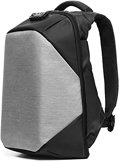 KORIN ClickPack Pro Anti Theft Travel Backpack Laptop Backpack 15.6 inch with USB Charging Port Large Capacity Waterproof TSA Business Travel Backpack Bag Friendly Smart Black and Grey