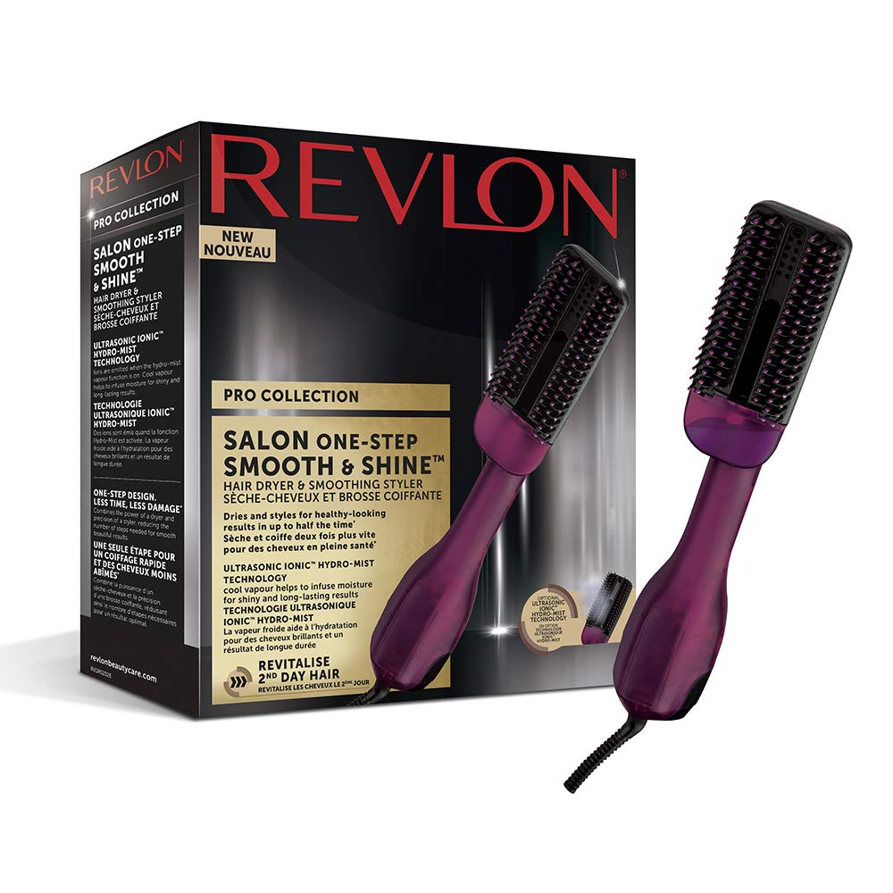 Revlon Pro Collection Salon One-Step Smooth & Shine Hair Dryer and Styling Brush