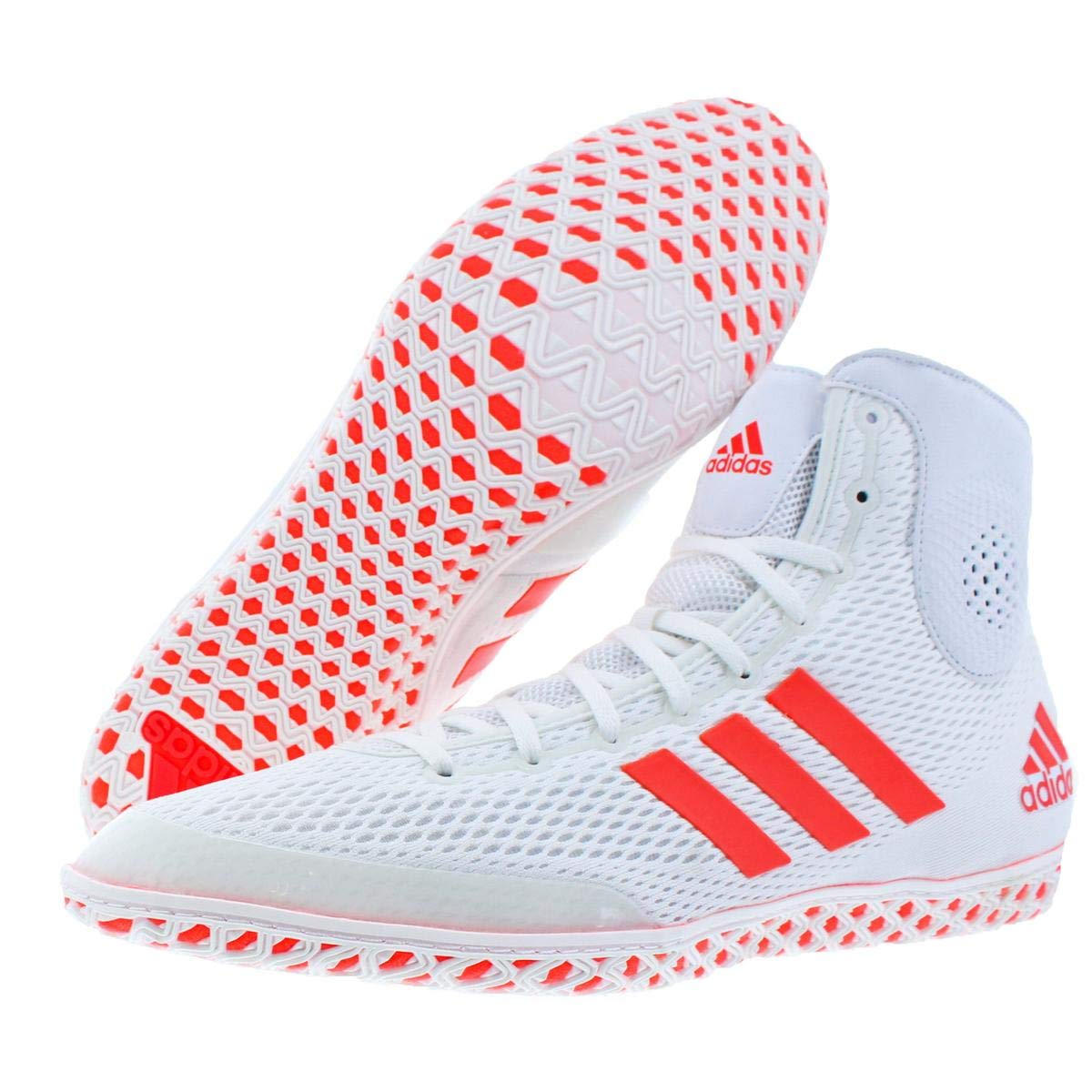 ... low cost amazon adidas mens tech fall.16 lightweight wrestling shoes  white 15 medium d 67e302bc6