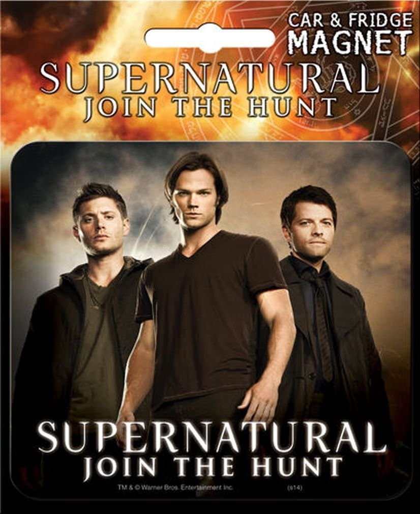 Ata-Boy Supernatural Die-Cut Dean, Sam & Castiel Magnet for Cars, Refrigerators and Lockers