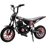Burromax TT250R Electric Mini Bike 250W Lithium Battery Powered Motocross Scooter, Black