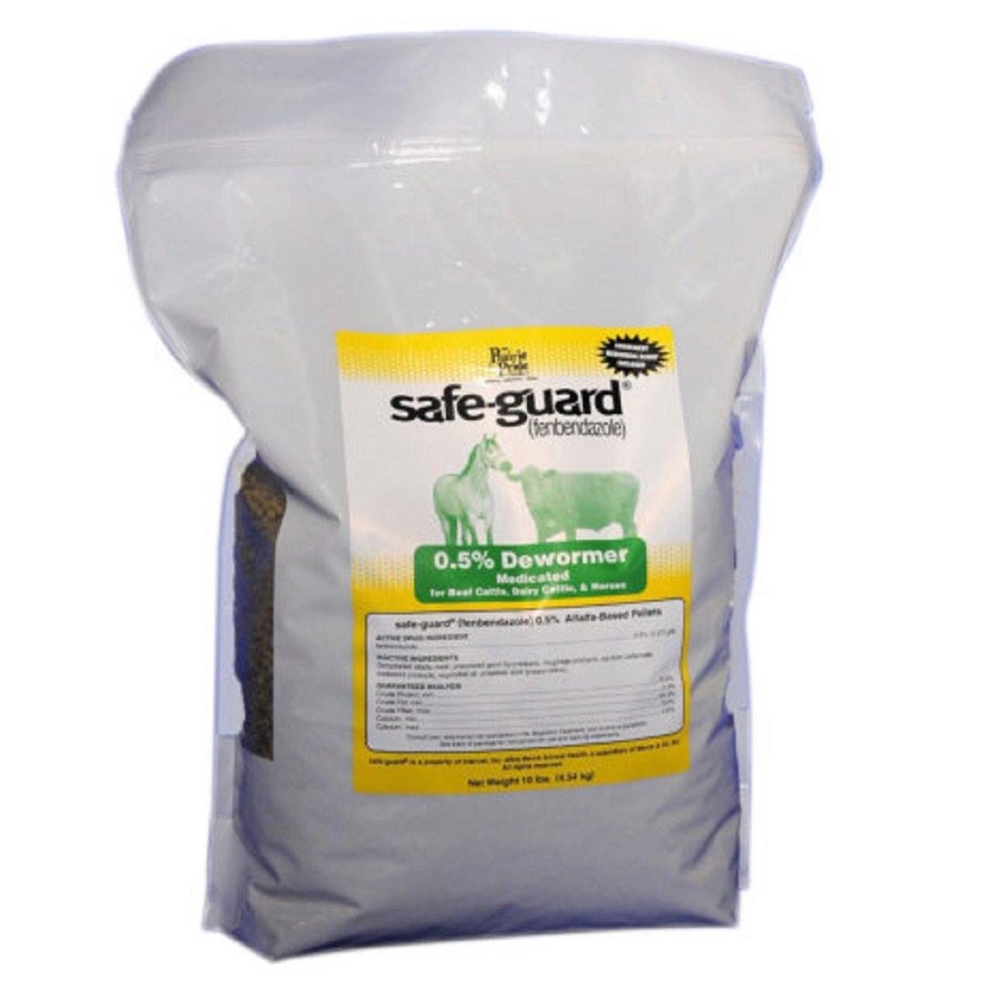 PRAIRIE PRIDE Medicated Dewormer for Farm Livestock - Pelleted alfalfa-based, contains 0.5% safe-guard - 10 LB