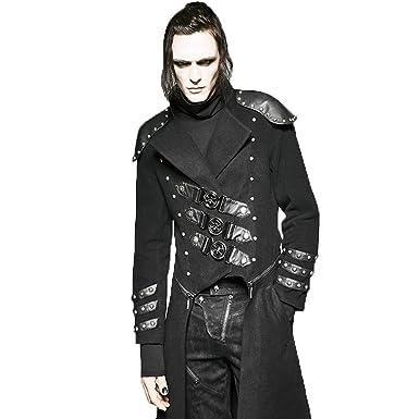 c85badc6edc Punk Rave Mens Gothic Tailcoat Jacket Steampunk VTG Victorian Military  Style Trench Coat