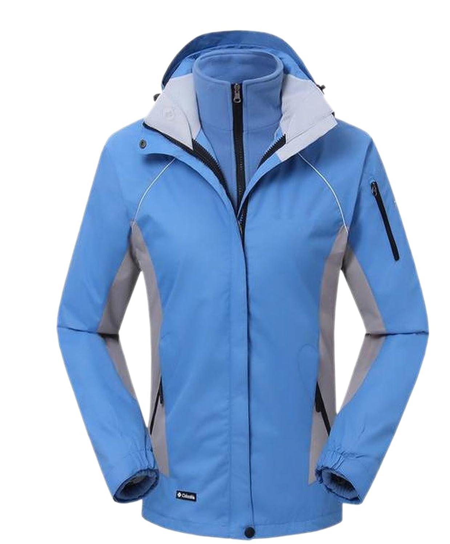 XTX Women's Waterproof Zip-Up Stylish Jacket Windproof Coat