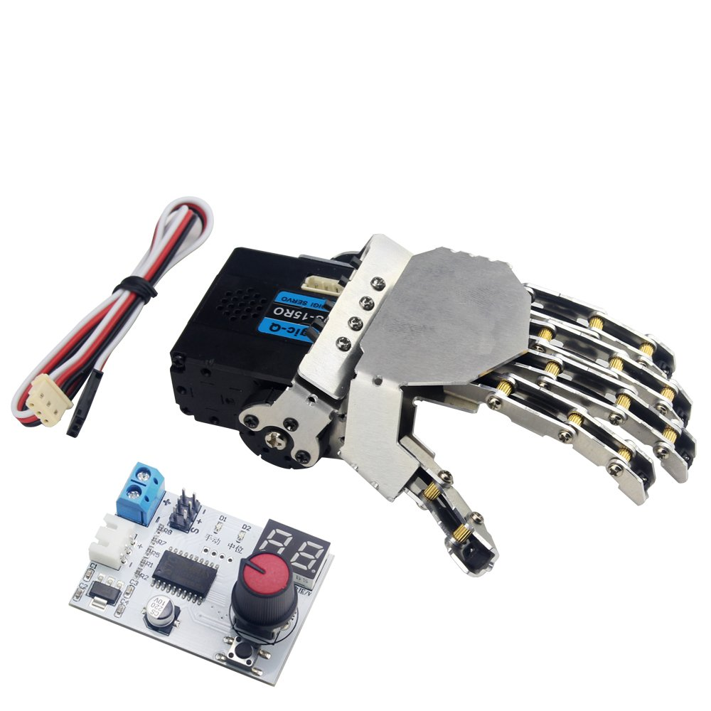 Amazon.com: LewanSoul Hand-made Robotic Hand 5 Finger with Digital ...