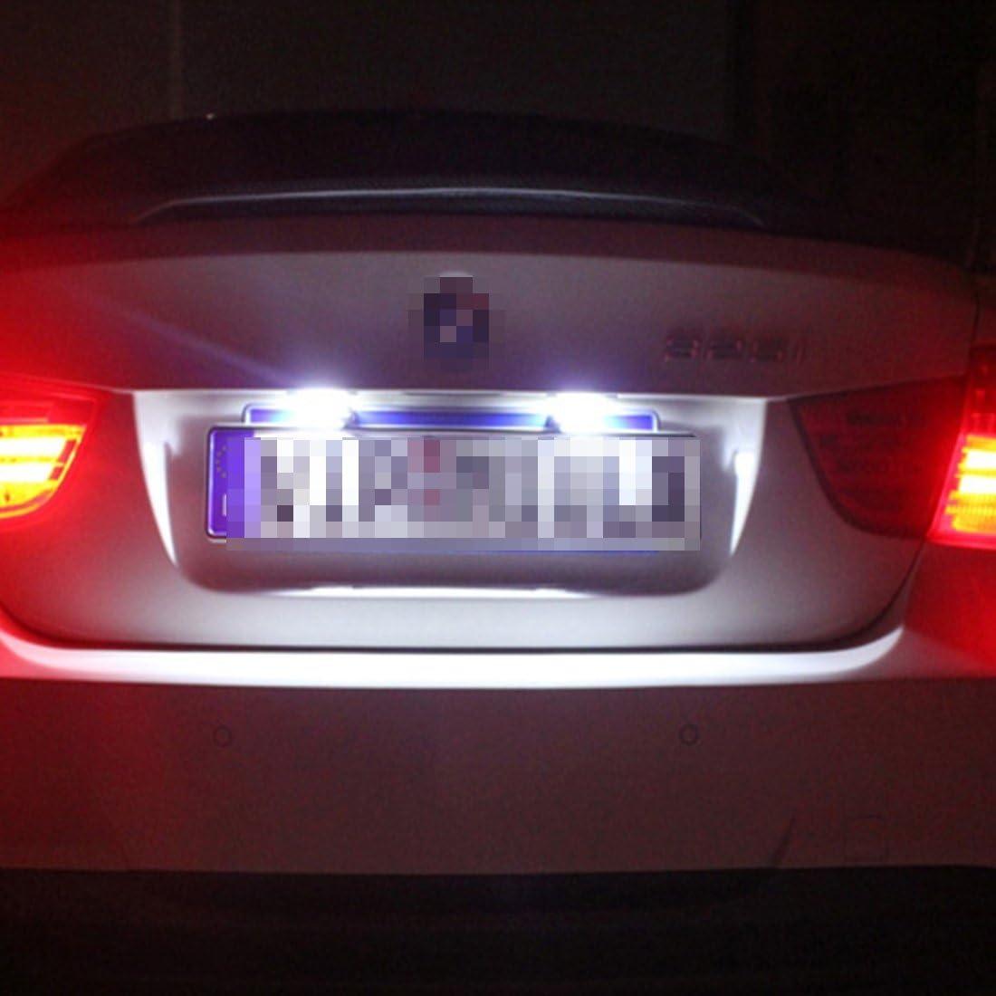 2W 120LM Ampoule automobile 2 PCS Light plaque dimmatriculation avec 18 lampes SMD-3528 pour Mercedes-Benz GLK X204 DC12V