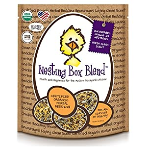 Treats For Chickens Certified Organic Nesting Box Blend, Herbal Bedding, 1Lb Bucket 67