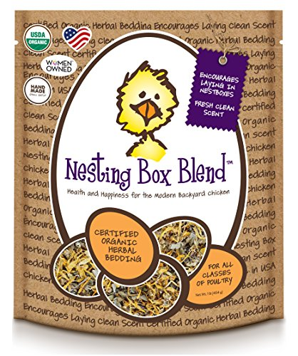 Treats For Chickens Certified Organic Nesting Box Blend, Herbal Bedding, 1Lb Bucket