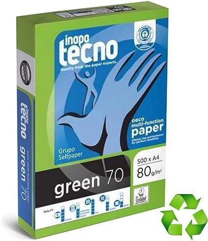 Inapa 248001 - Pack de 500 hojas de papel fotocopiadora, A4: Amazon.es: Oficina y papelería