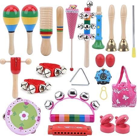 Instrumentos de percusión para niños 22 piezas de ...