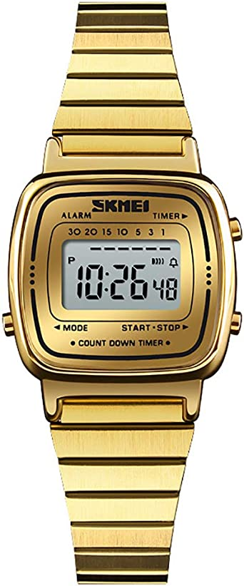 SIridescentZB Moda Mujer Reloj Digital Cuenta atrás Alarma ...