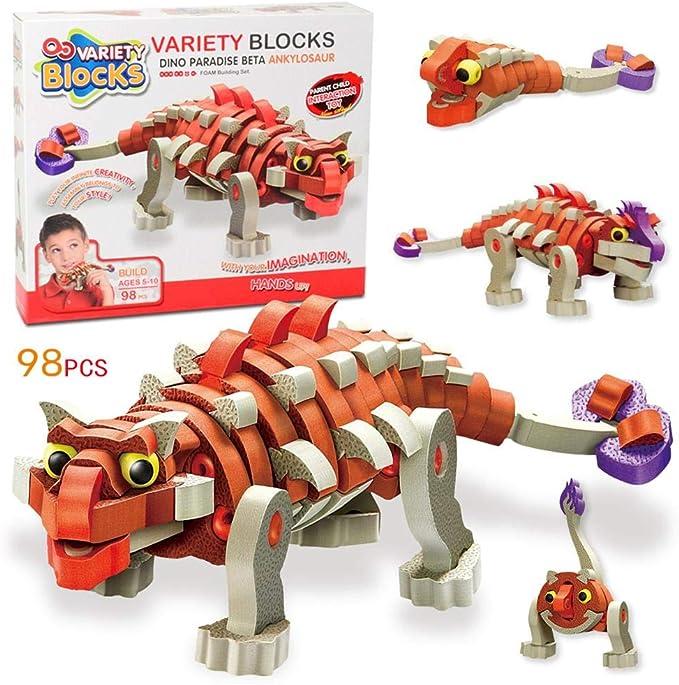 zezego Puzzle Hechizo – Ankylosaurus Dinosaur Espuma Bloques de ...