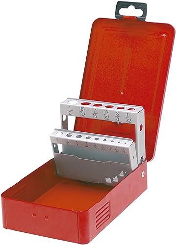Drill Bits Metal Tool Box, 7 L X 4-3 8 W X 2-1 8 H, 18 Sheet Gauge