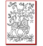 Christmas Cards for Coloring by Adults and Children. A6 Size Cards to Color and Envelopes Included