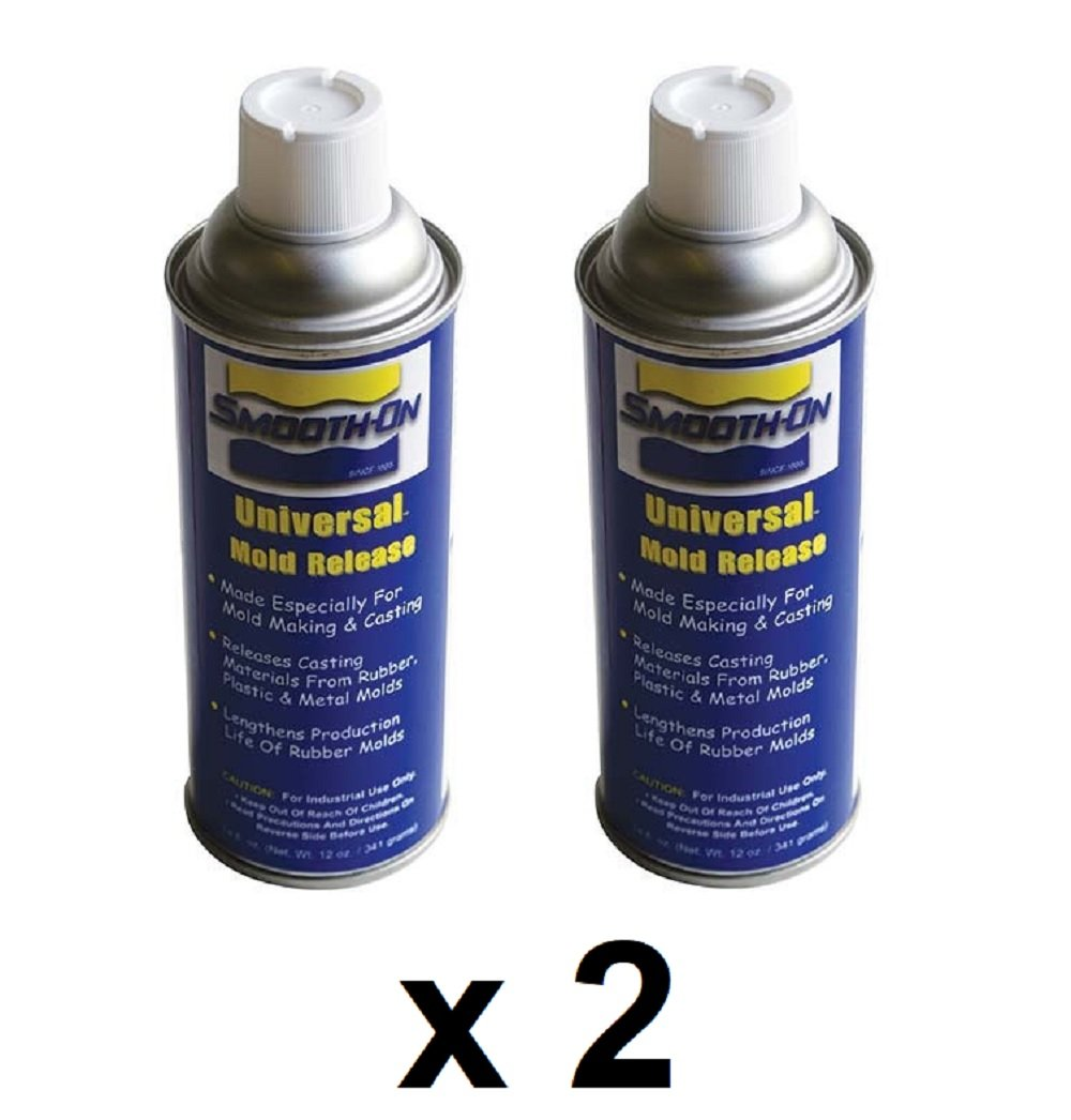 2 PACK Smooth-On Universal Mold Release 14 Fluid Oz 4336900288