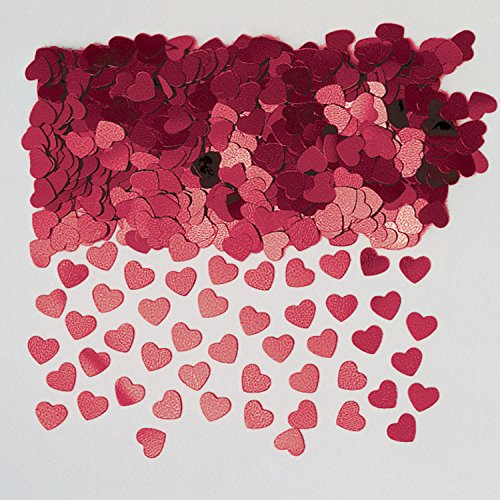 Sparkle Hearts Burgundy Metallic Confetti 14g