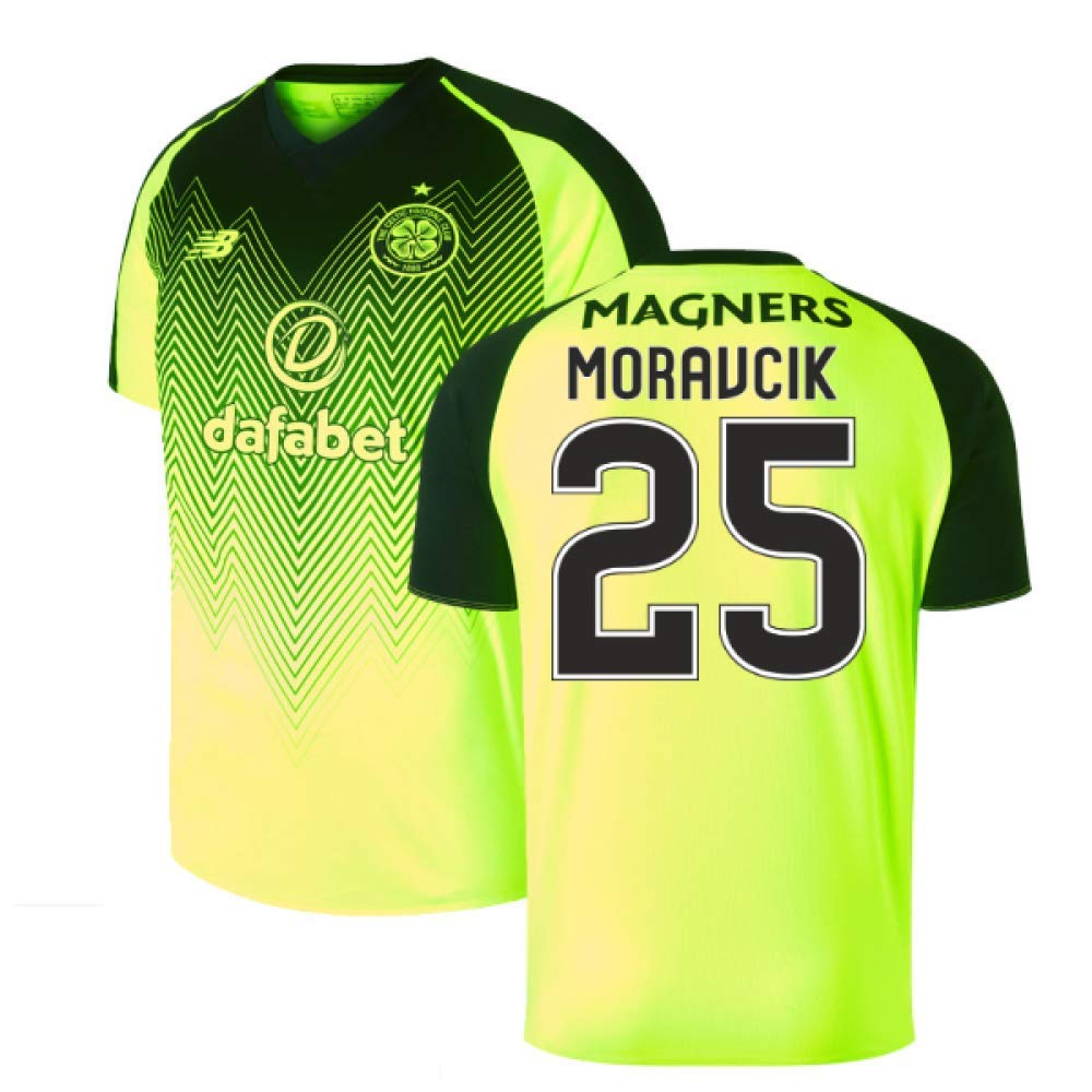 2018-2019 Celtic Third Football Soccer T-Shirt Trikot (Lubo Moravcik 25)