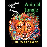 Animal Jungle: Coloring For Adults