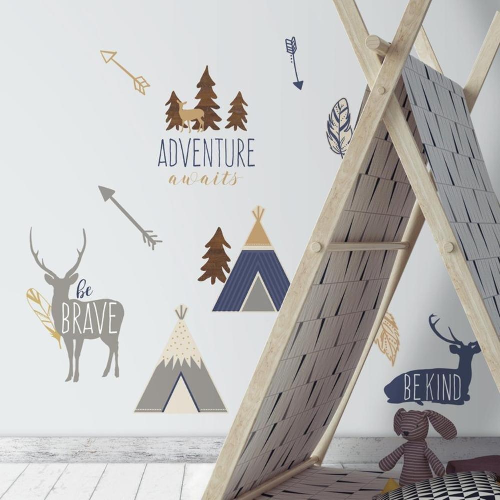 Vinilo Decorativo Pared [7DGLPLVT] animales aventura bosque