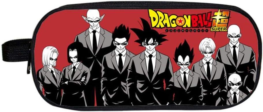 Pencil Case Dragon Ball Anime Cuadrado Estuche para lápices Estuches cosméticos para Adolescentes niños Escolares Monedero Bolsas de Maquillaje P: Amazon.es: Hogar