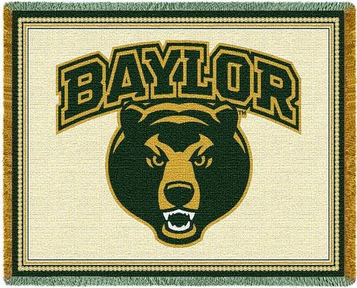 Baylor Bears Mascot Tapestry Throw