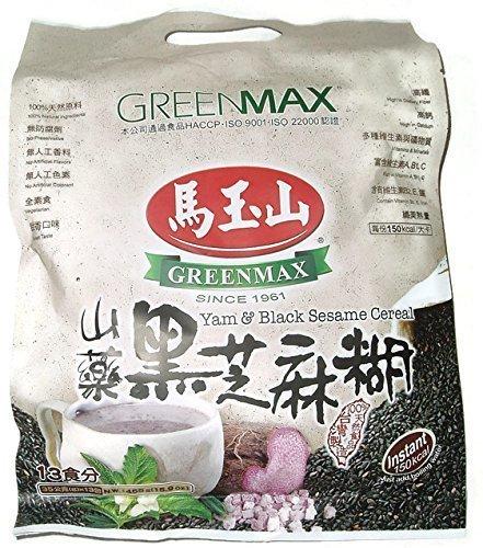Greenmax Yam & Black Sesame Instant Cereal (13 Servings, 16 Oz.) Single Pack