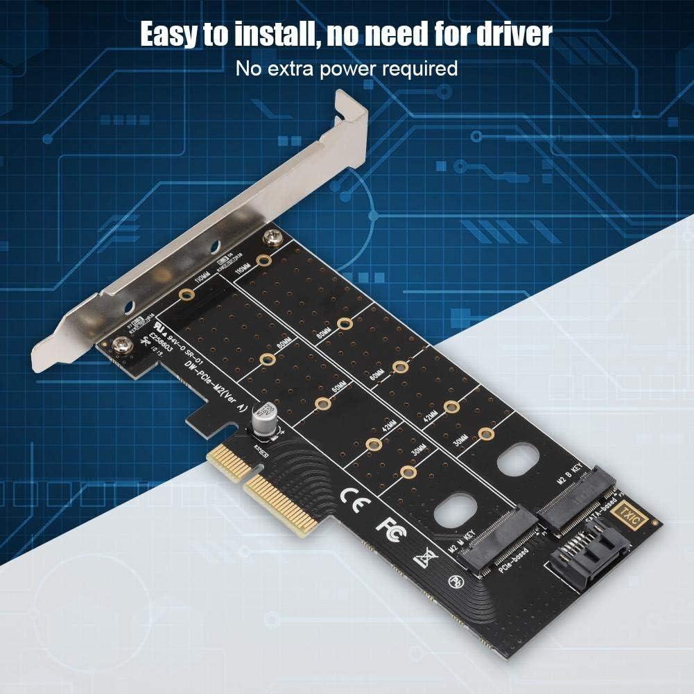 M-Key M.2 SSD Socket 6.0Gb//s Oumij PCI-E 4X Adapter Card Expansion Riser Card M.2 to PCI-E 4X 3.0 Adapter Card Riser Card High Speed Expansion B-Key