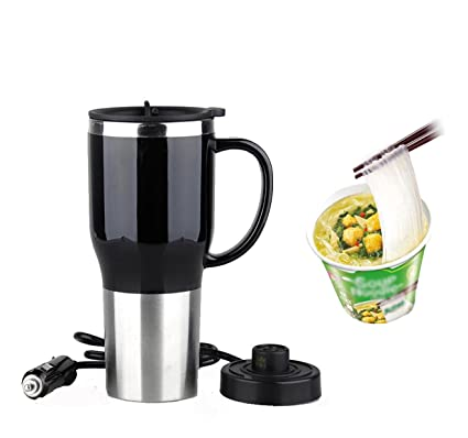 Mengshen Car Electric Heating Mug/Calentador Eléctrico para Coche/Taza de Acero Inoxidable 12V