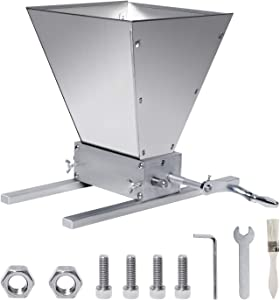 Manual Adjustable Barley Grinder, 2 Roller Malt Crusher Barley Crusher Grain Mill with Cleaning brush Use for Beer Brewing Grain Mill Homebrew