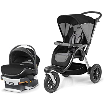 Chicco Activ3 Jogging Stroller And KeyFit 30 Zip Infant Car Seat Travel System