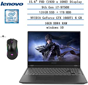 "2020 Newest Lenovo Legion Y540 15.6"" FHD Gaming Laptop,144Hz i7-9750H Hexa-Core(Beat i7-8565U),16GB RAM,128GB SSD+1TB HDD,NVIDIA GTX 1660Ti 6GB GDDR6,Legion Ultimate Support /Ghost Manta Gaming Mouse"