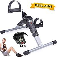 AGM Mini Fitness Pieghevole Pedaliera, Mini Cyclette Pieghevole per Braccia e Gambe con LCD Display Pedaliera da Casa Regolabile Digitale Mani e Piedi(Exercise Pedal Bike)