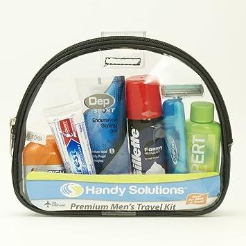1866ab9bc5ff Amazon.com : Handy Solutions Premium Men's Travel Kit - 12 12 pcs ...